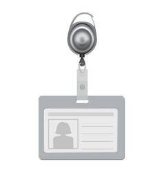 blank id with silhouette of woman mockup vector image vector image