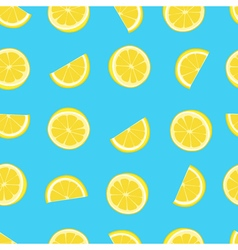 Blue and yellow lemon textile print seamless vector image vector image