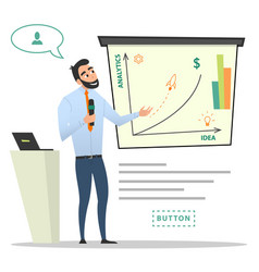Business characters project presentation vector