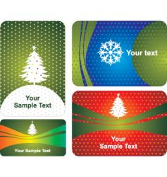 card with tree vector image vector image