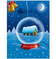 Christmas celebration card vector
