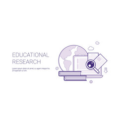 educational research business concept template web vector image