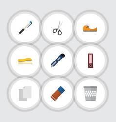 Flat icon equipment set of rubber sticky sheets vector