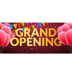 Grand Opening event invitation banner with vector image vector image