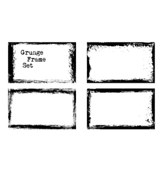 grunge frame templates vector image vector image