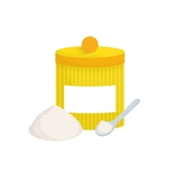 Isolated food container vector