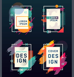 modern design of blank entertainment cards vector image