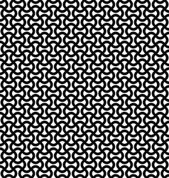 Monochrome curly stripe repeat pattern vector image