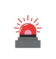 red flashing emergency vector image