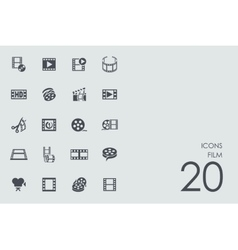 Set of film icons vector