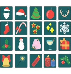 set of twenty Christmas icons vector image vector image