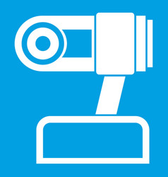 Webcam icon white vector