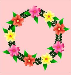 Wreath of flowers vector