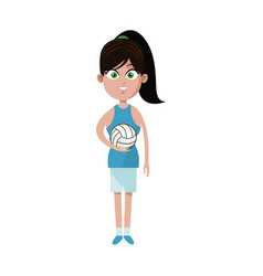 Woman volleyball player icon image vector