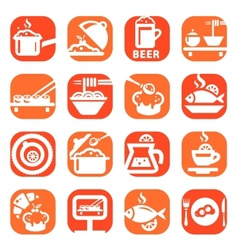 Color food icon set vector