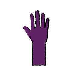 hand up symbol vector image
