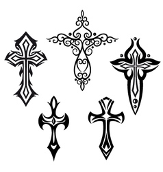Crosses crucifix vector