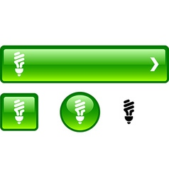 Fluorescent bulb button set vector