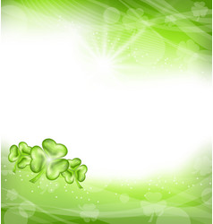 St patrick day green clover background vector