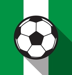Football icon with nigeria flag vector