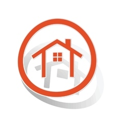 Cottage sign sticker orange vector