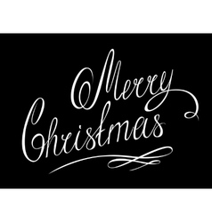Merry christmas lettering handmade calligraphy vector