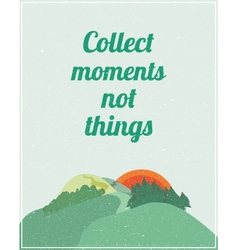 Motivational poster with colorful nature landscape vector