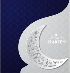 Arabic of ramadan kareem vector