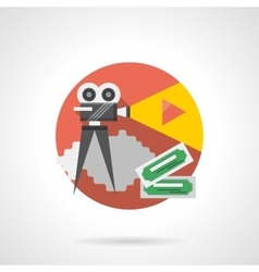 Cinema projector color detailed icon vector