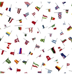 Many flags on a pole seamless pattern vector
