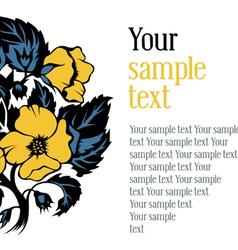 design textual frame vector image