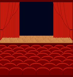 A theater stage vector