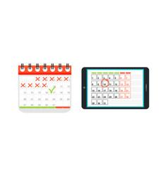 Agenda list calendar vector