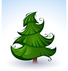 artistic green christmas tree vector image vector image
