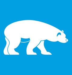Bear icon white vector