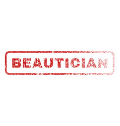 Beautician rubber stamp vector