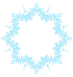 Big frosty snowflake vector