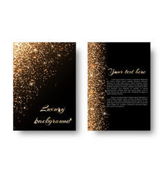 Bling background with golden light vector