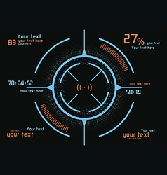 Blue and orange infographics vector