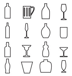 Bottle and Glass1 vector image