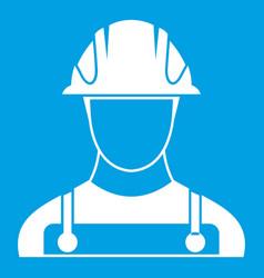Builder icon white vector
