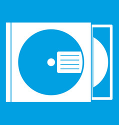 cd box with disc icon white vector image vector image