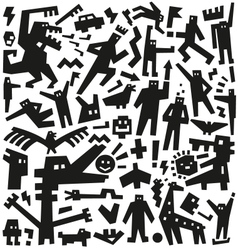 Characters - doodles vector