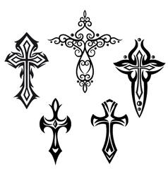 Crosses crucifix vector