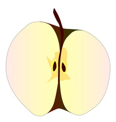 Cut apple vector