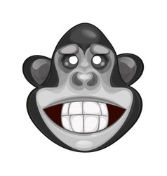 cute monkey icon vector image vector image