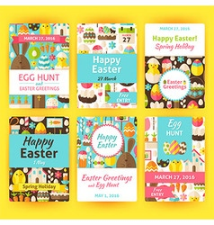Easter Greeting Template Invitation Set in Modern vector image vector image