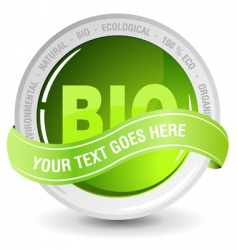 ecology bio sign vector image