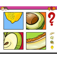 Educational activity with fruits vector
