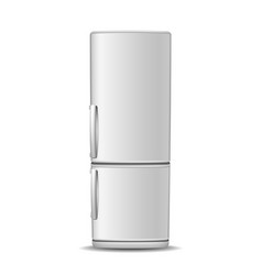 Fridge freezer isolated on white vector